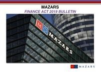 Mazars Finance Act 2019 Bulletin
