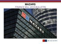 Mazars Finance Bill 2019 Analysis